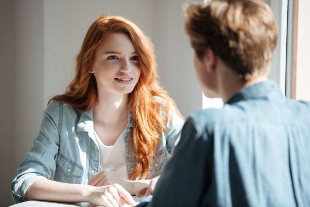 Woman Listening To A Capricorn Man's Ideas